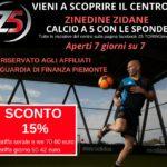 """Centro Sportivo """"Z5 TORINO"""" di Zinedine Zidane – Offerta Riservata"""