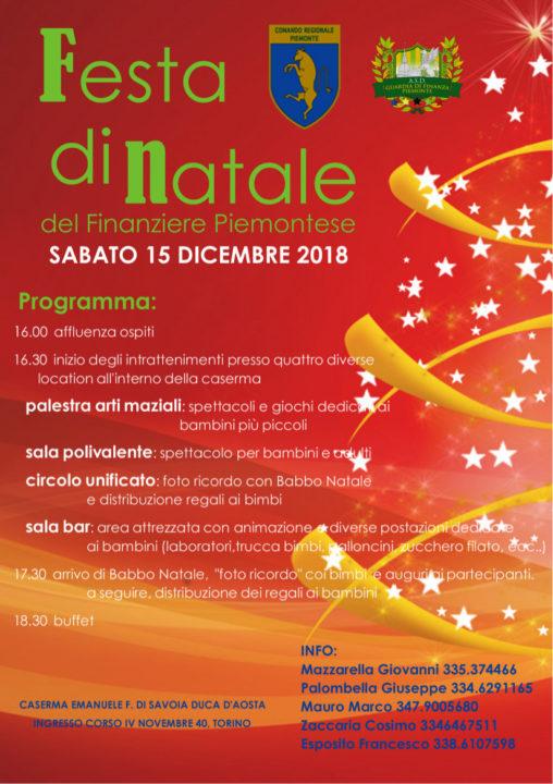 Festa Di Natale.Festa Di Natale Del Finanziere Piemontese 2018 A S D
